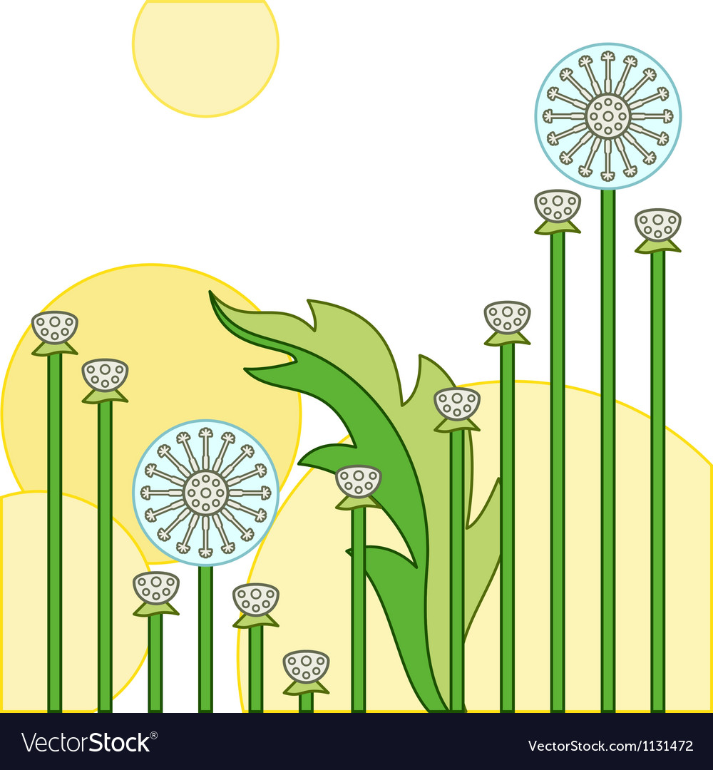 Dandelion vector | Price: 1 Credit (USD $1)