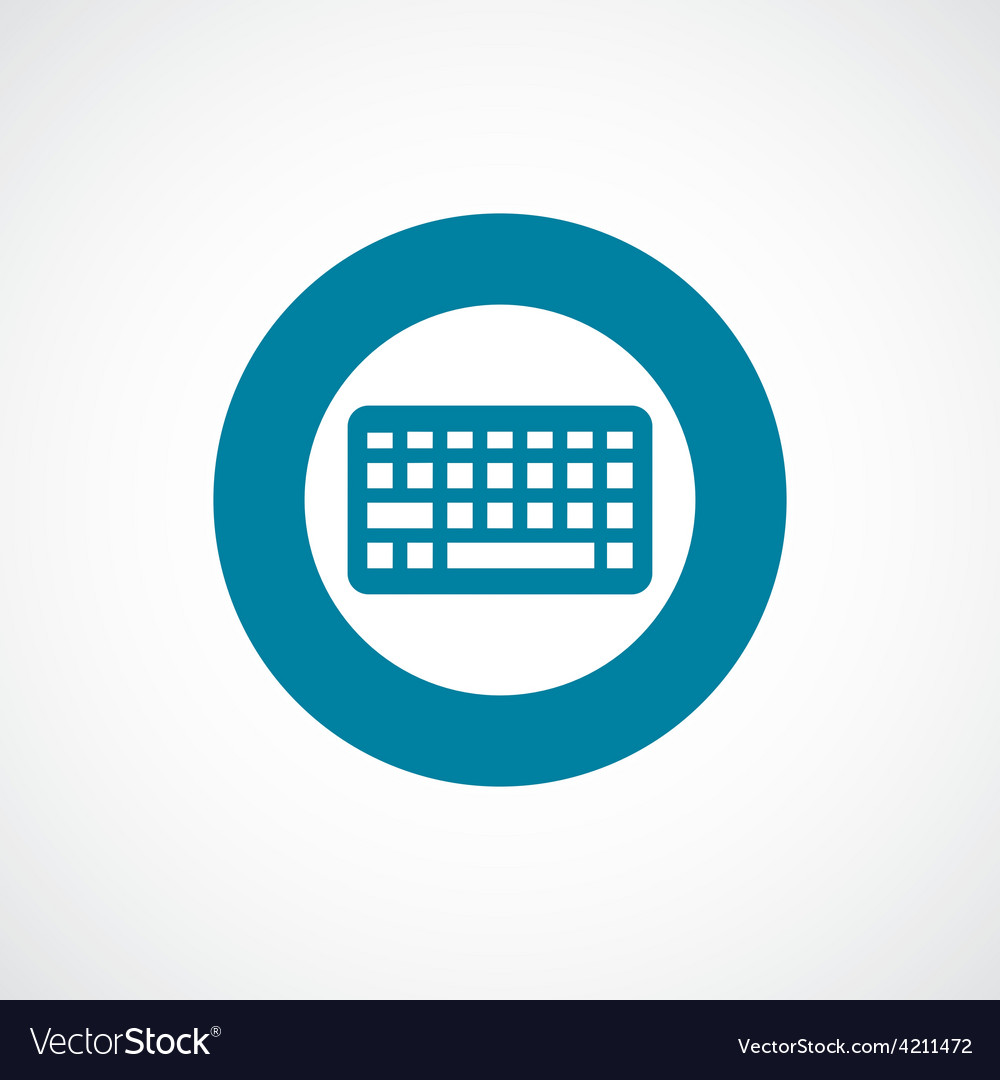 Keyboard icon bold blue circle border vector | Price: 1 Credit (USD $1)