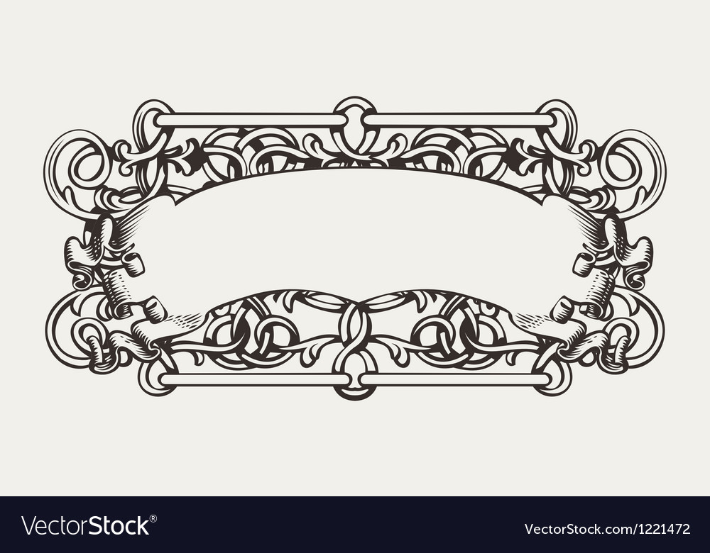 Old banner high ornate background vector | Price: 1 Credit (USD $1)
