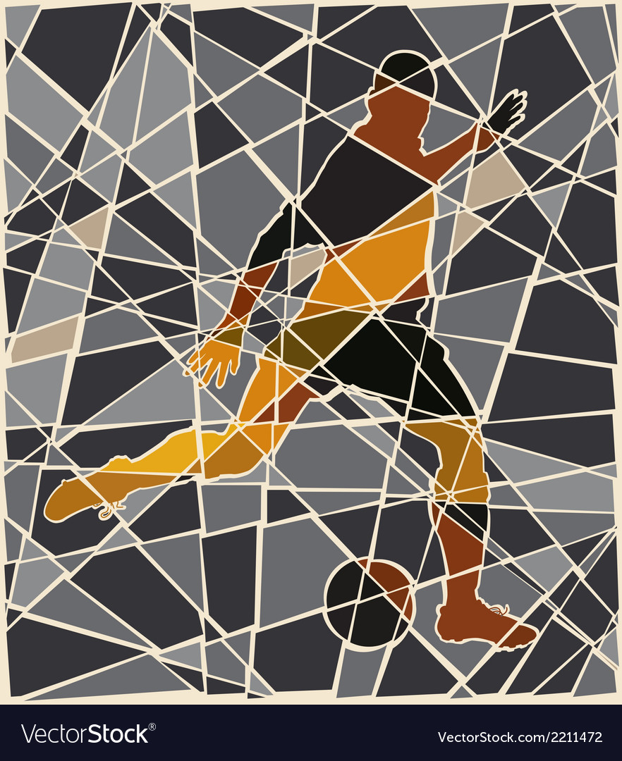 Soccer kick mosaic vector | Price: 1 Credit (USD $1)