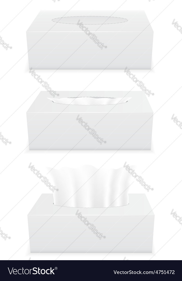 Tissue box 04 vector