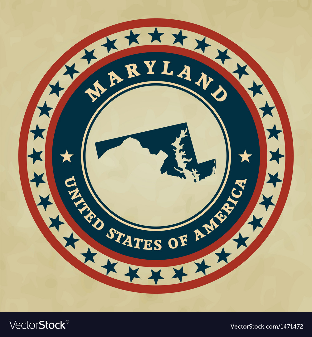 Vintage label maryland vector | Price: 1 Credit (USD $1)