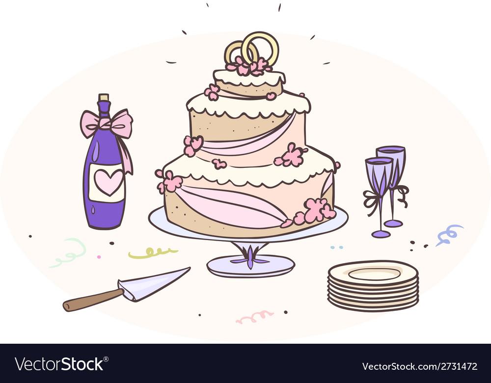 Wedding cake vector | Price: 1 Credit (USD $1)