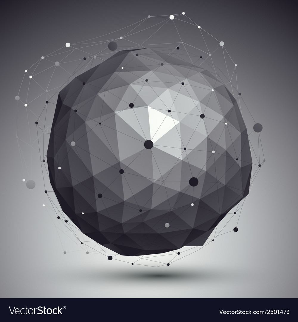 3d mesh modern style abstract background spherical vector | Price: 1 Credit (USD $1)
