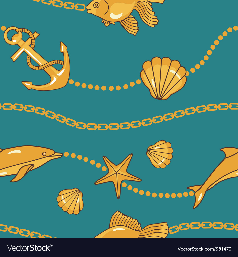 Gold nautical pattern vector | Price: 1 Credit (USD $1)