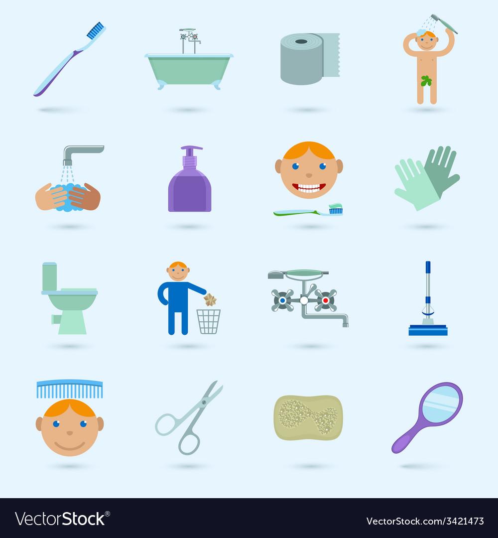Hygiene icons set vector   Price: 1 Credit (USD $1)