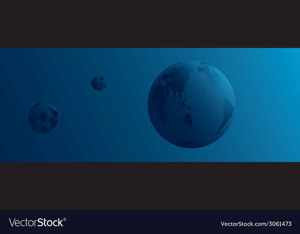 Planet earth and space vector | Price: 1 Credit (USD $1)