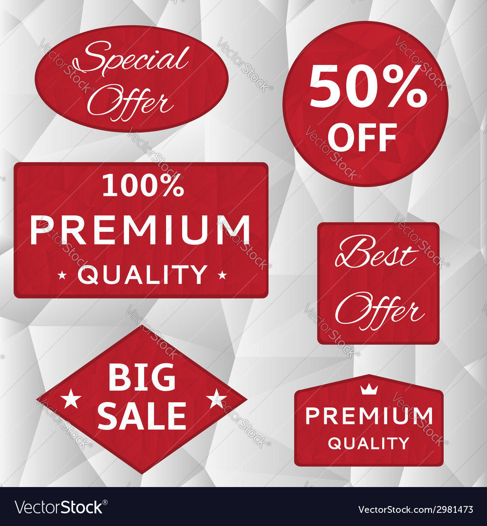 Red labels vector   Price: 1 Credit (USD $1)
