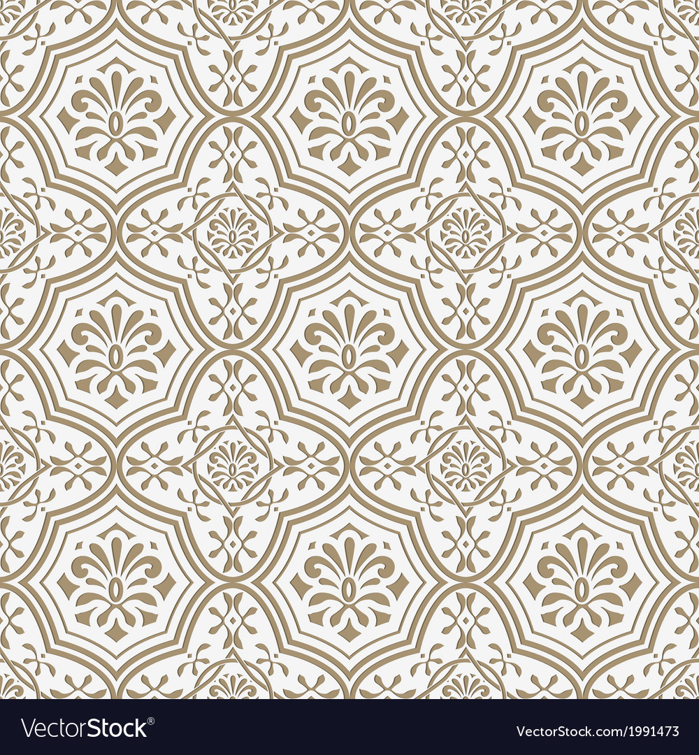 Seamless paper cut floral pattern vector | Price: 1 Credit (USD $1)