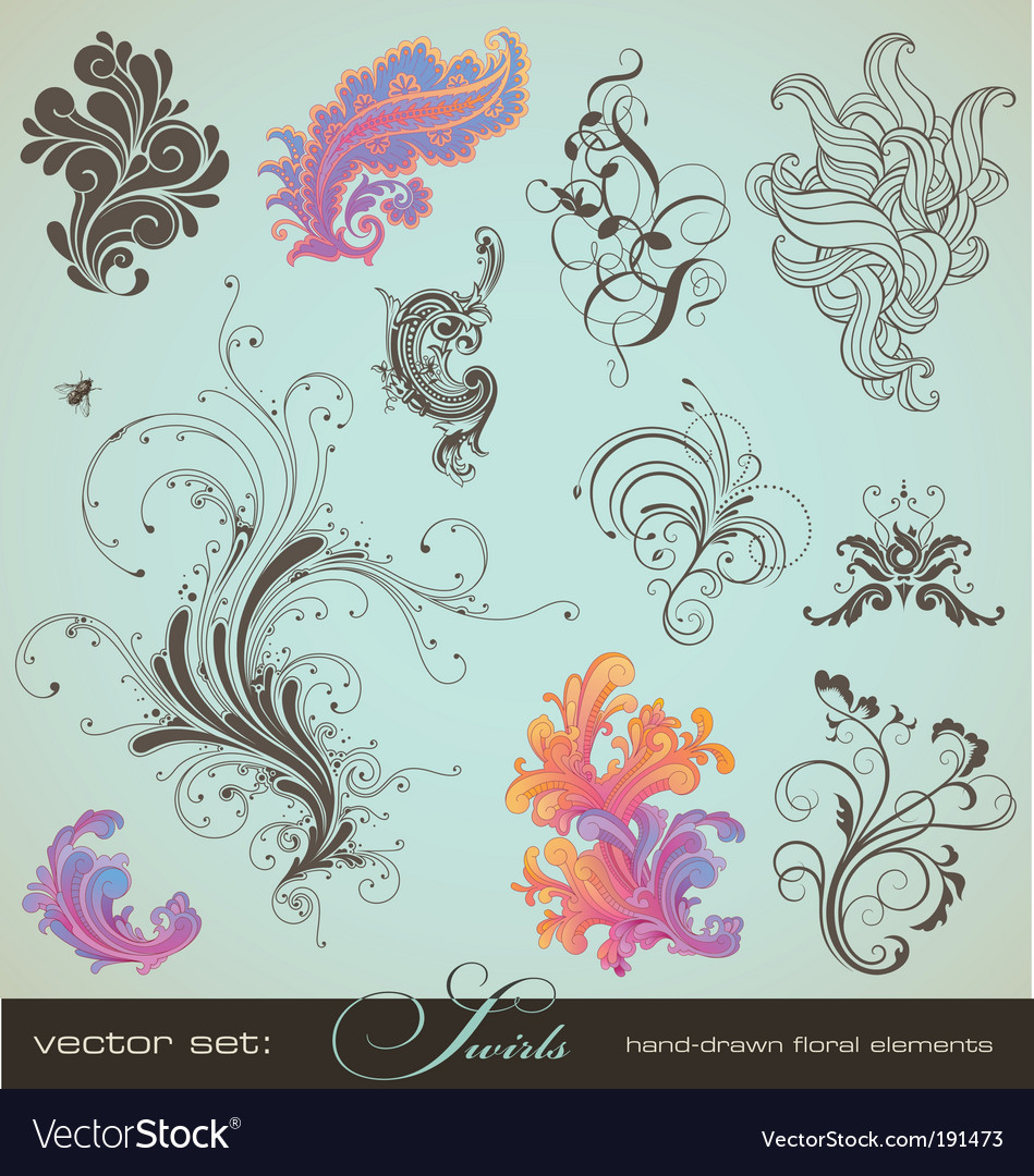 Swirls vector | Price: 1 Credit (USD $1)