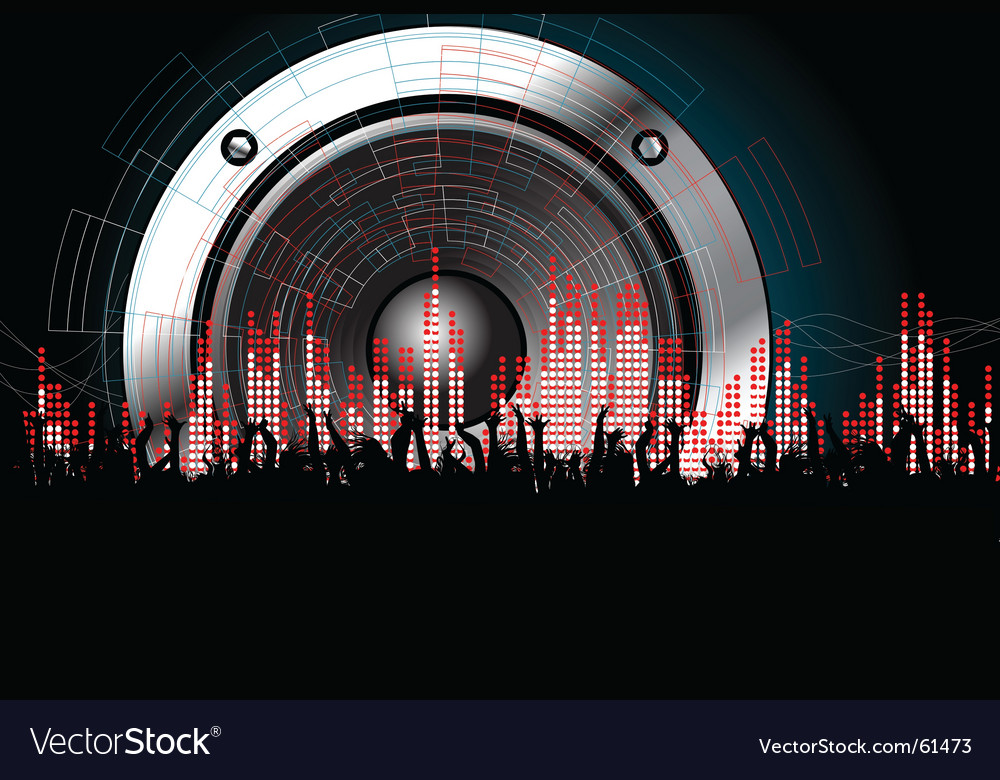Techno rave party vector | Price: 1 Credit (USD $1)