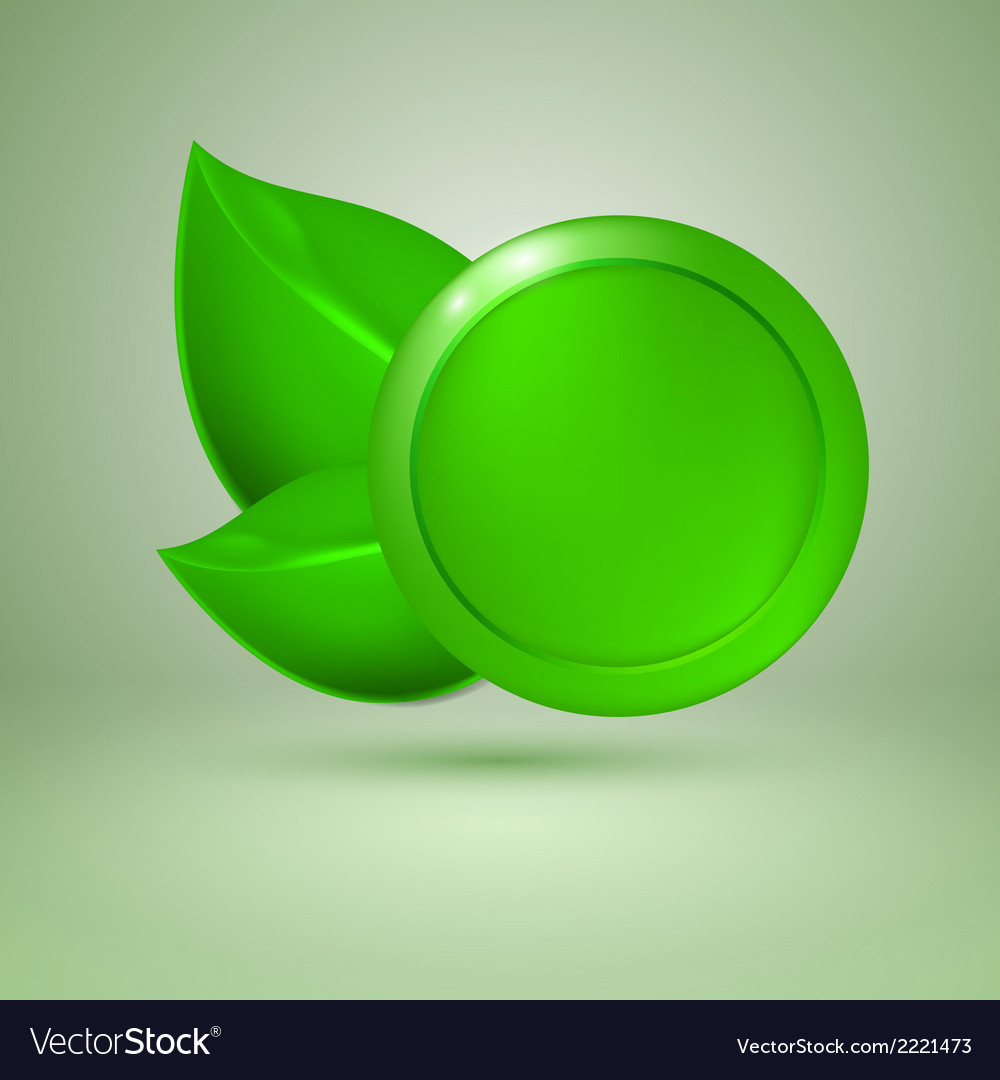 Two green leaves vector | Price: 1 Credit (USD $1)