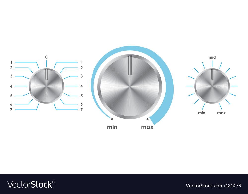 Volume balance knobs vector | Price: 1 Credit (USD $1)
