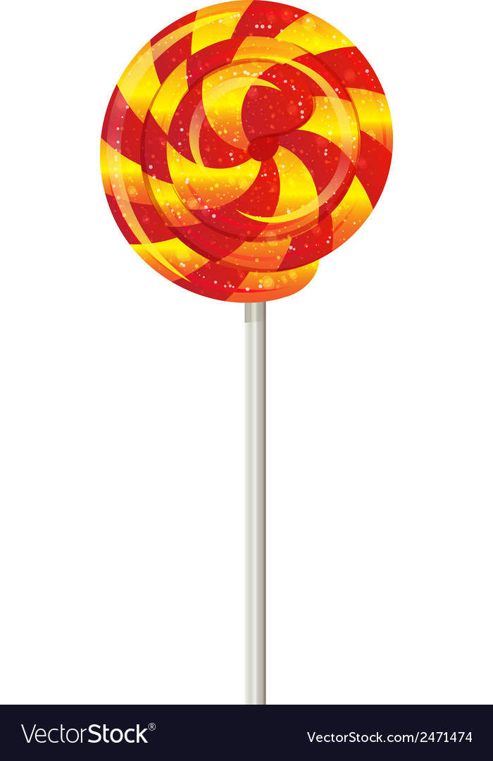 Candy on a stick spinner spiral vector | Price: 1 Credit (USD $1)