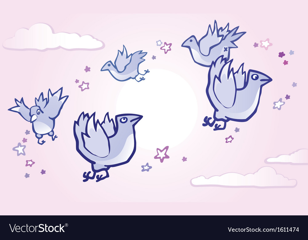 Flying birds vector | Price: 1 Credit (USD $1)