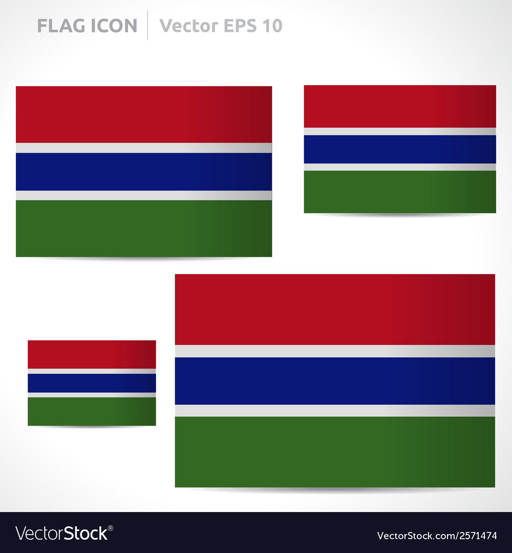 Gambia flag template vector | Price: 1 Credit (USD $1)