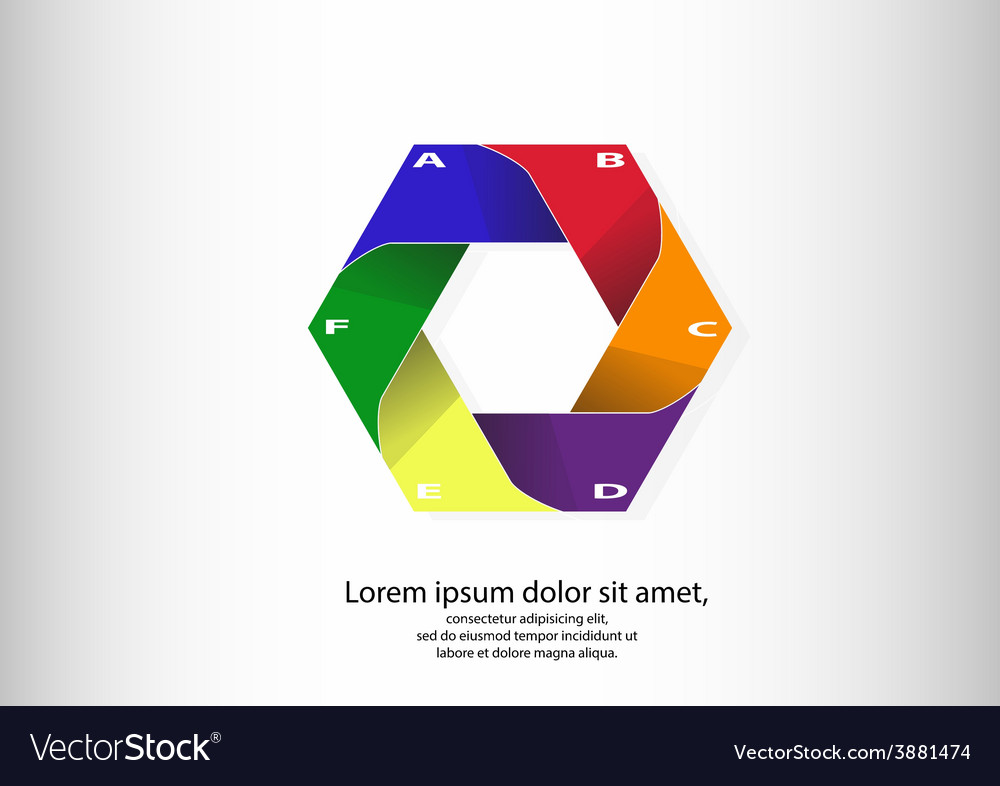 Infographic logo with hexagon motif vector   Price: 1 Credit (USD $1)