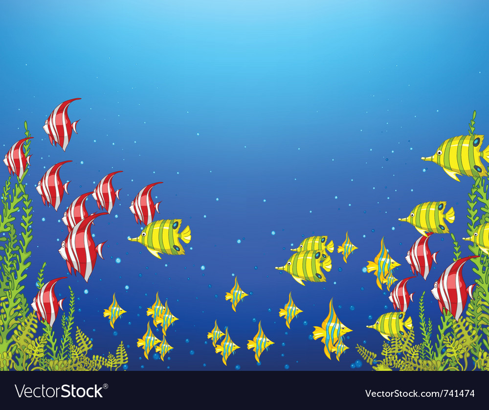 Ocean underwater world vector | Price: 1 Credit (USD $1)