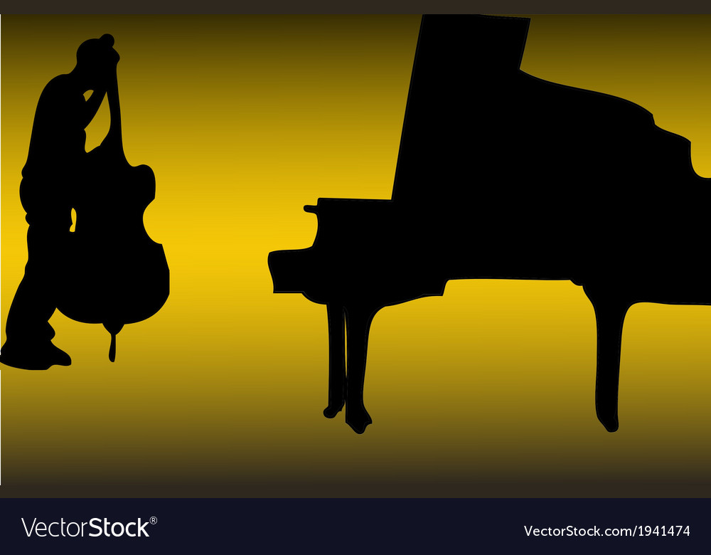 Piano and bass vector | Price: 1 Credit (USD $1)