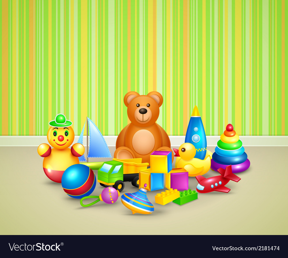 Play room background vector | Price: 1 Credit (USD $1)