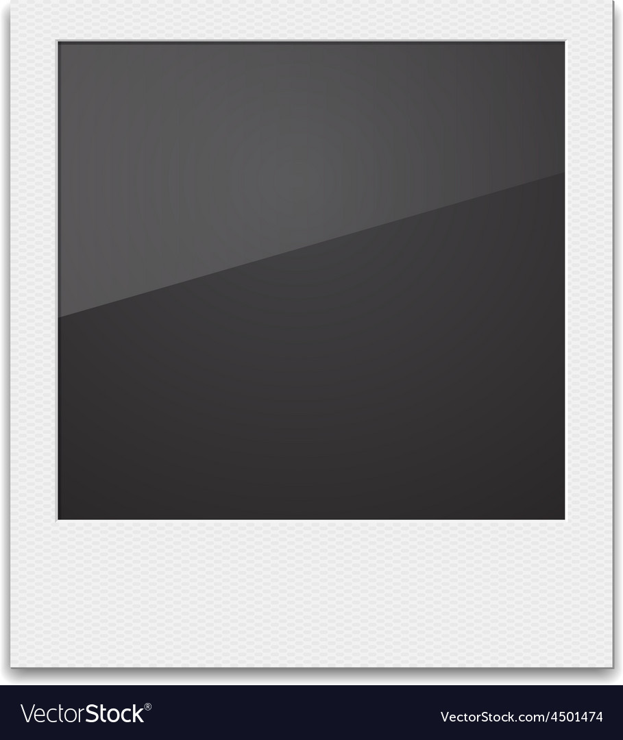 Retro photo frame polaroid on white background vector | Price: 1 Credit (USD $1)