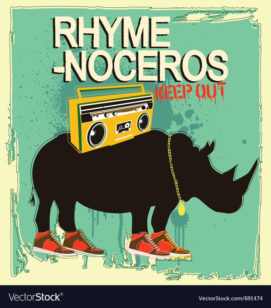Rhyme-noceros vector | Price: 1 Credit (USD $1)