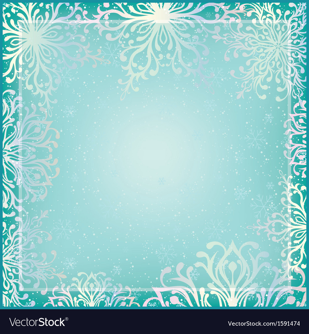 Winter background with ornamental snowflakes vector | Price: 1 Credit (USD $1)