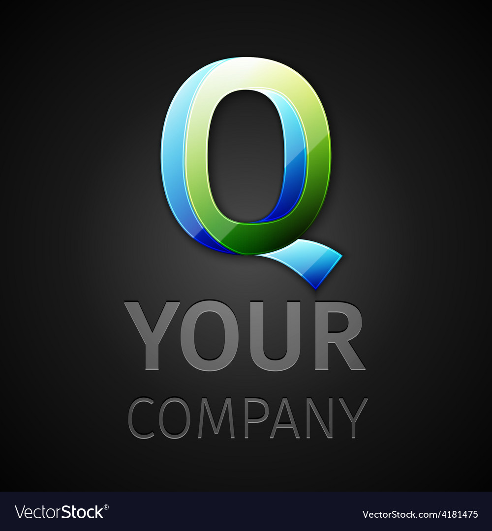 Abstract logo letter q vector | Price: 1 Credit (USD $1)