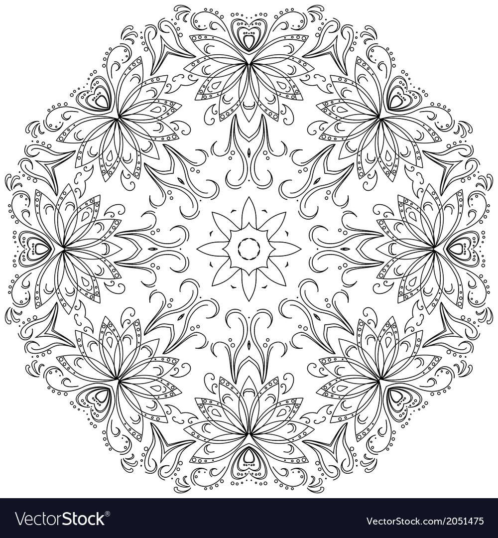 Abstract pattern contours vector | Price: 1 Credit (USD $1)