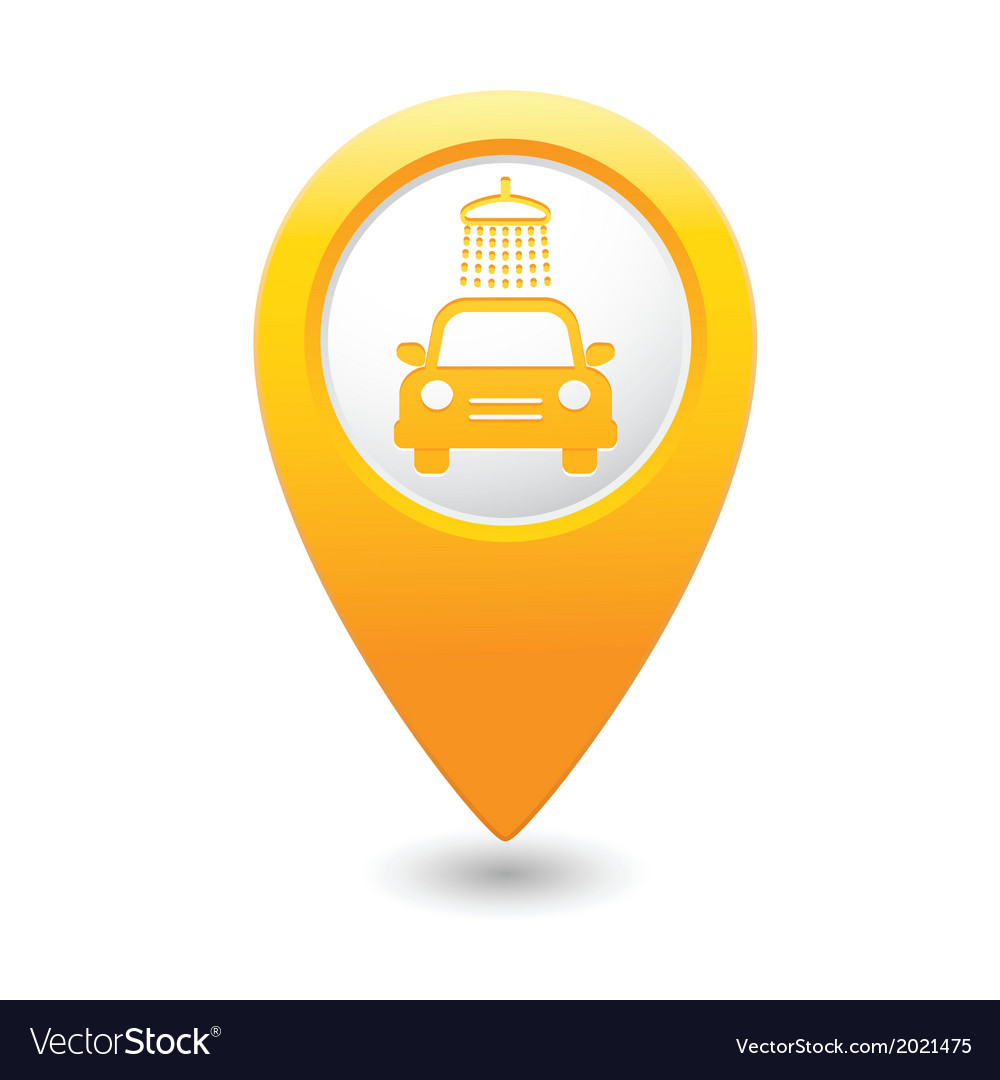 Car wash pointer yellow vector   Price: 1 Credit (USD $1)