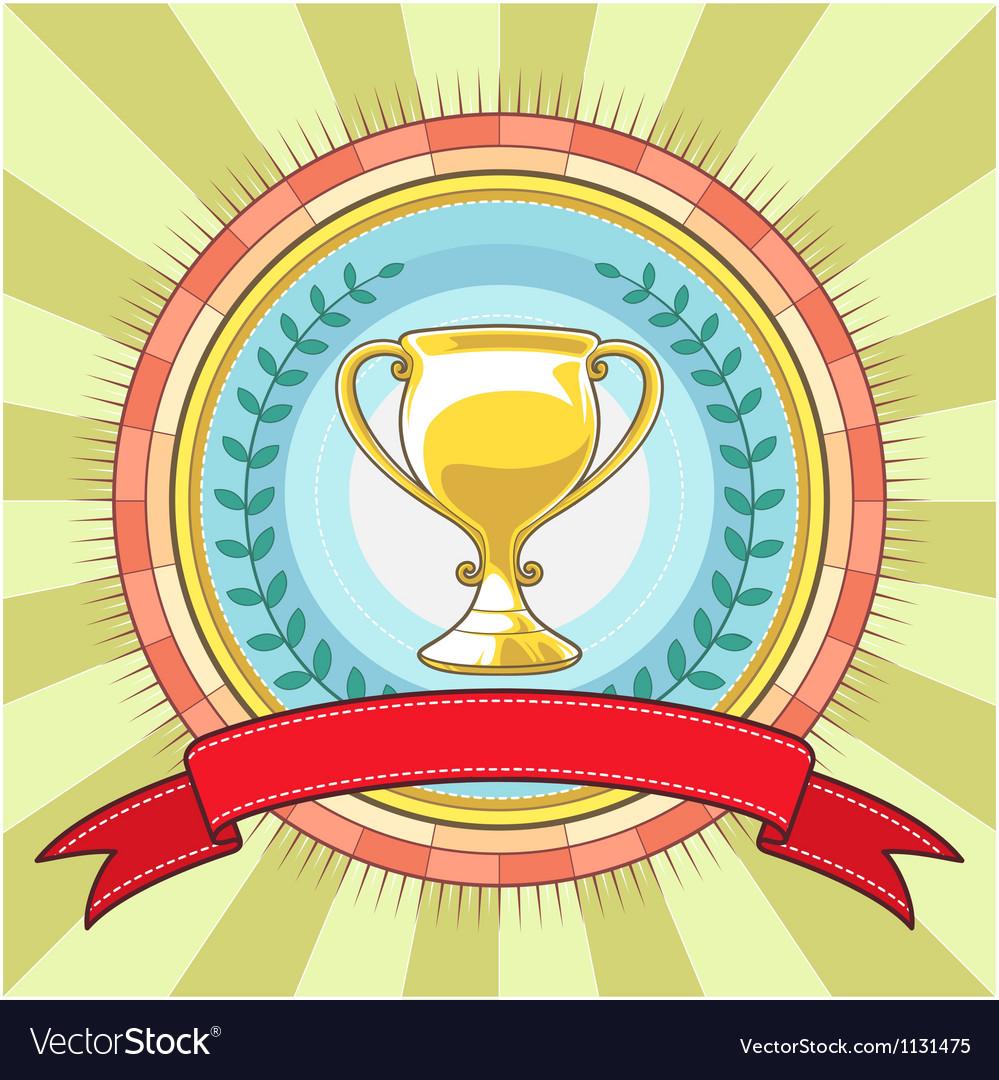 Champion circle badge template vector   Price: 1 Credit (USD $1)