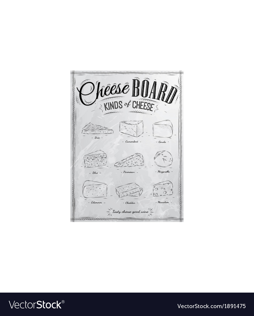 Cheeseboard coal vector | Price: 1 Credit (USD $1)
