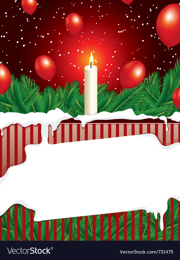 Christmas background with copy space vector | Price: 1 Credit (USD $1)