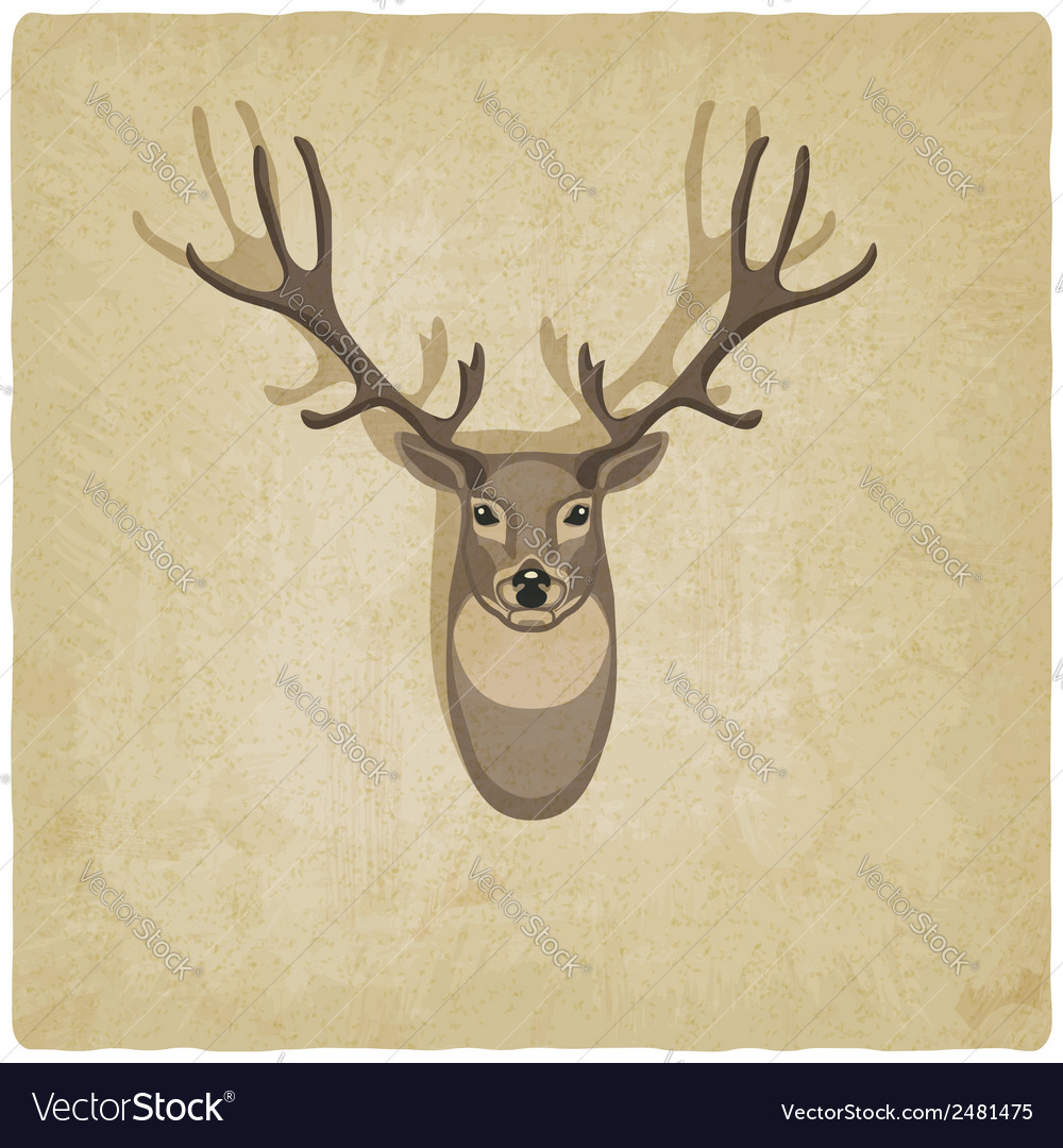 Deer old background vector | Price: 1 Credit (USD $1)