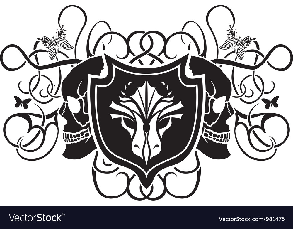 Dragon and skull arms vector   Price: 1 Credit (USD $1)