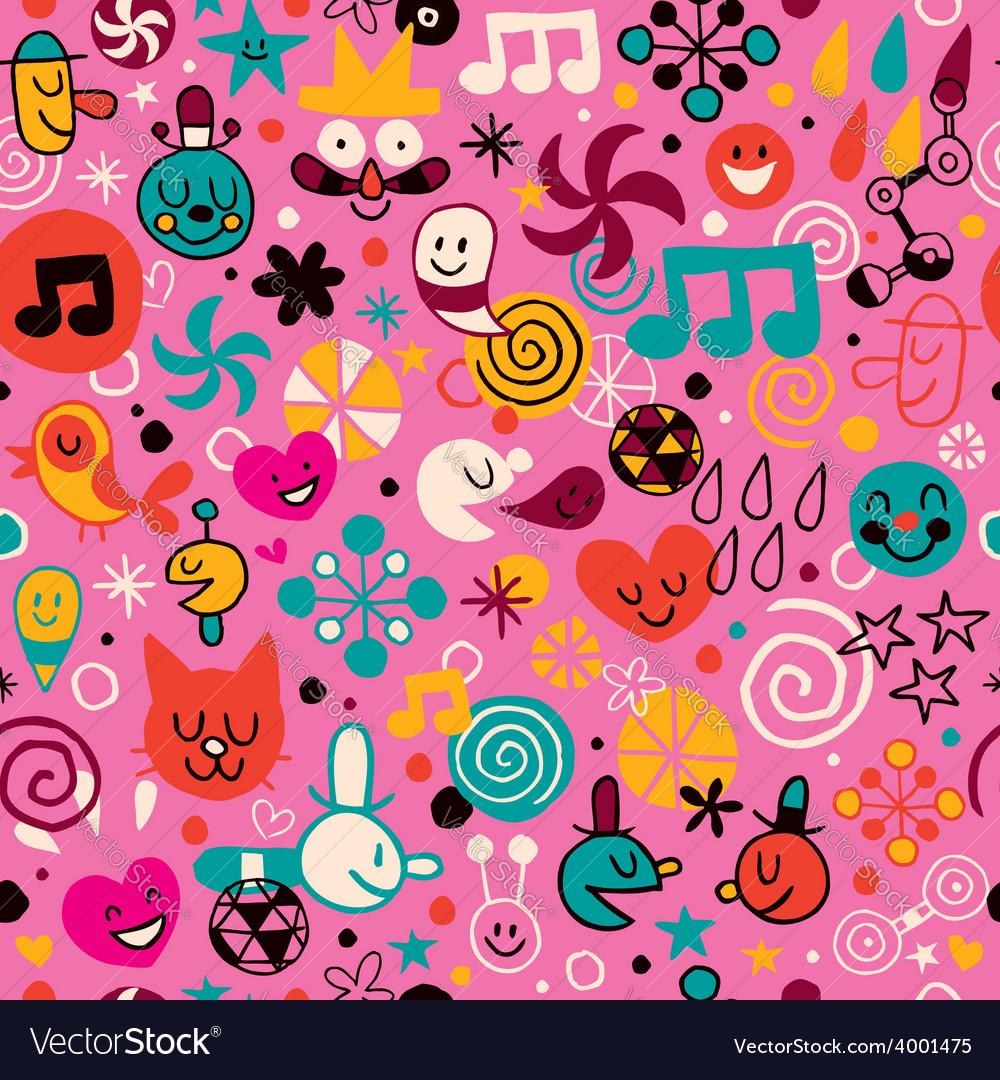 Fun cartoon pattern 2 vector | Price: 1 Credit (USD $1)