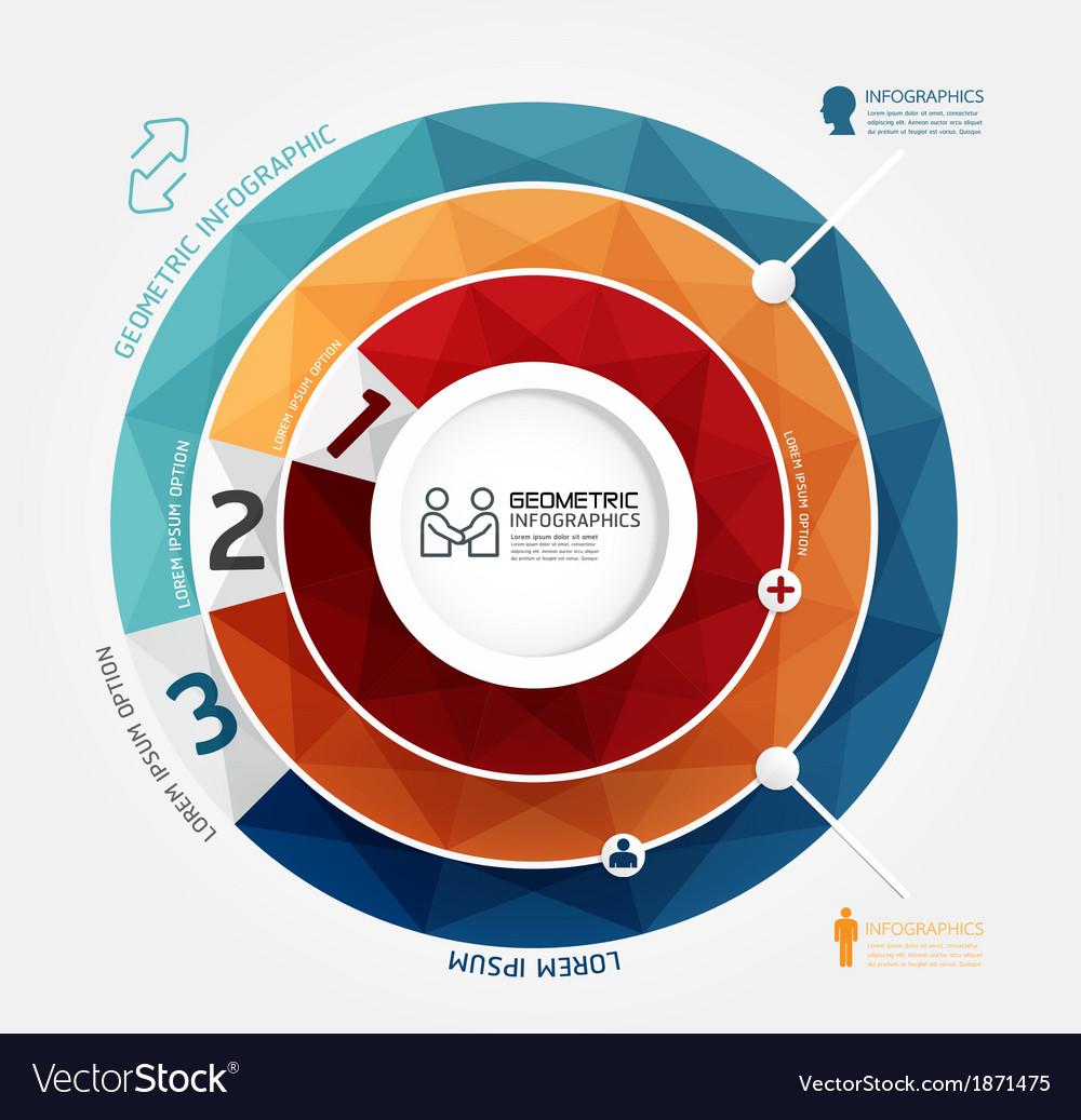 Geometric modern design minimal style infographic vector | Price: 1 Credit (USD $1)