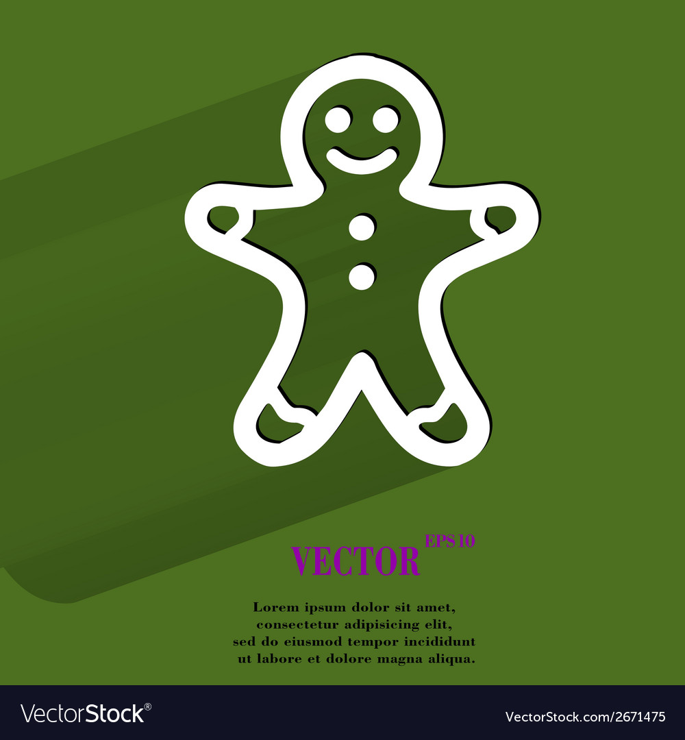 Gingerbread flat modern web button with long vector | Price: 1 Credit (USD $1)