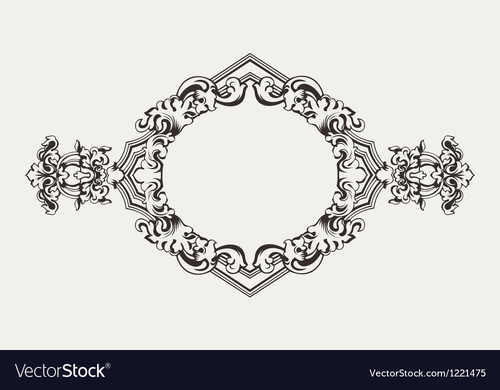 High ornate old romb frame vector | Price: 1 Credit (USD $1)