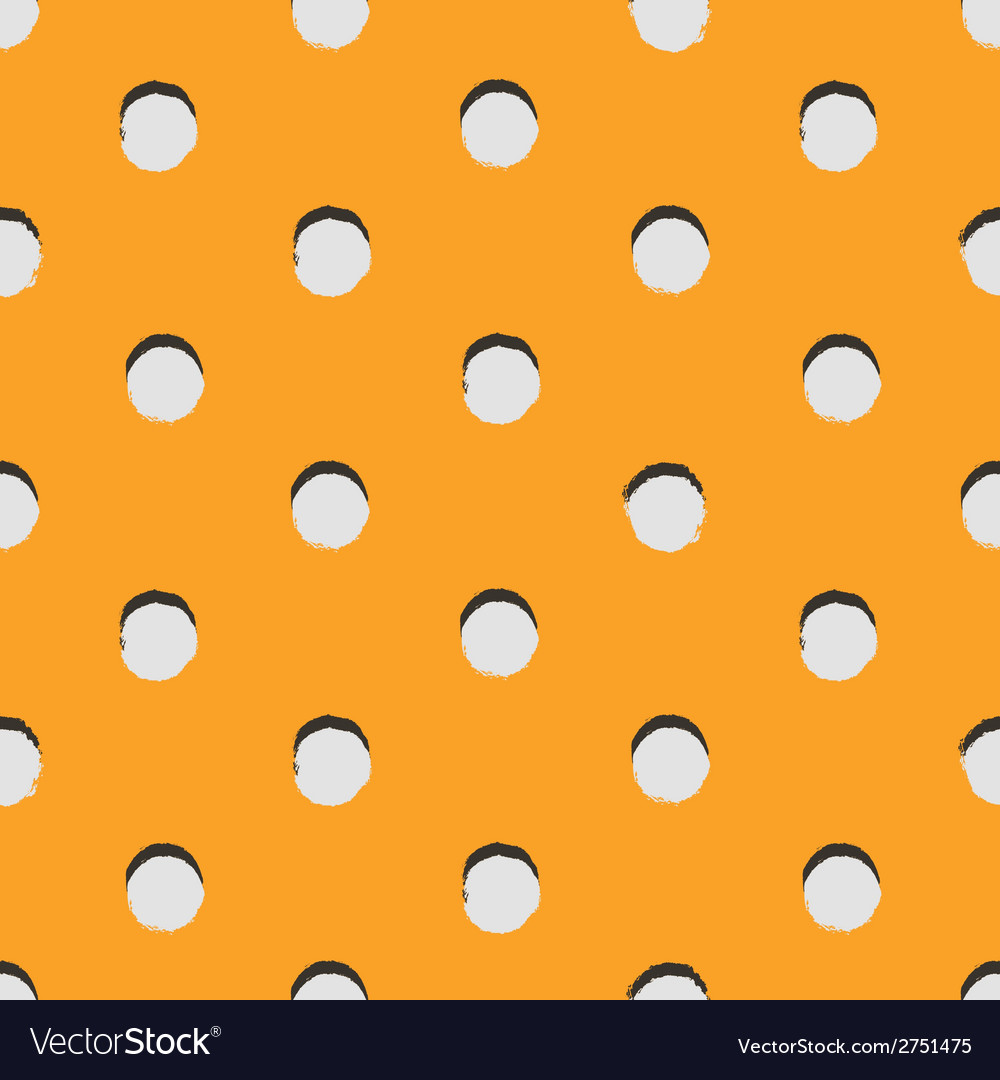 Polka dot colorful painted seamless pattern vector | Price: 1 Credit (USD $1)