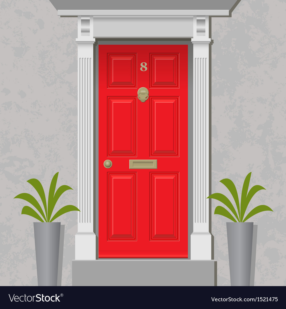 Red door vector | Price: 1 Credit (USD $1)