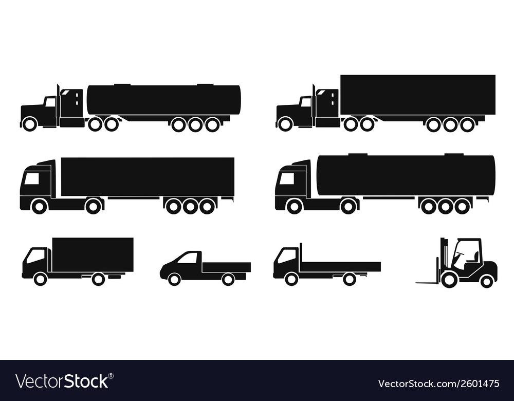 Truck icons vector | Price: 1 Credit (USD $1)