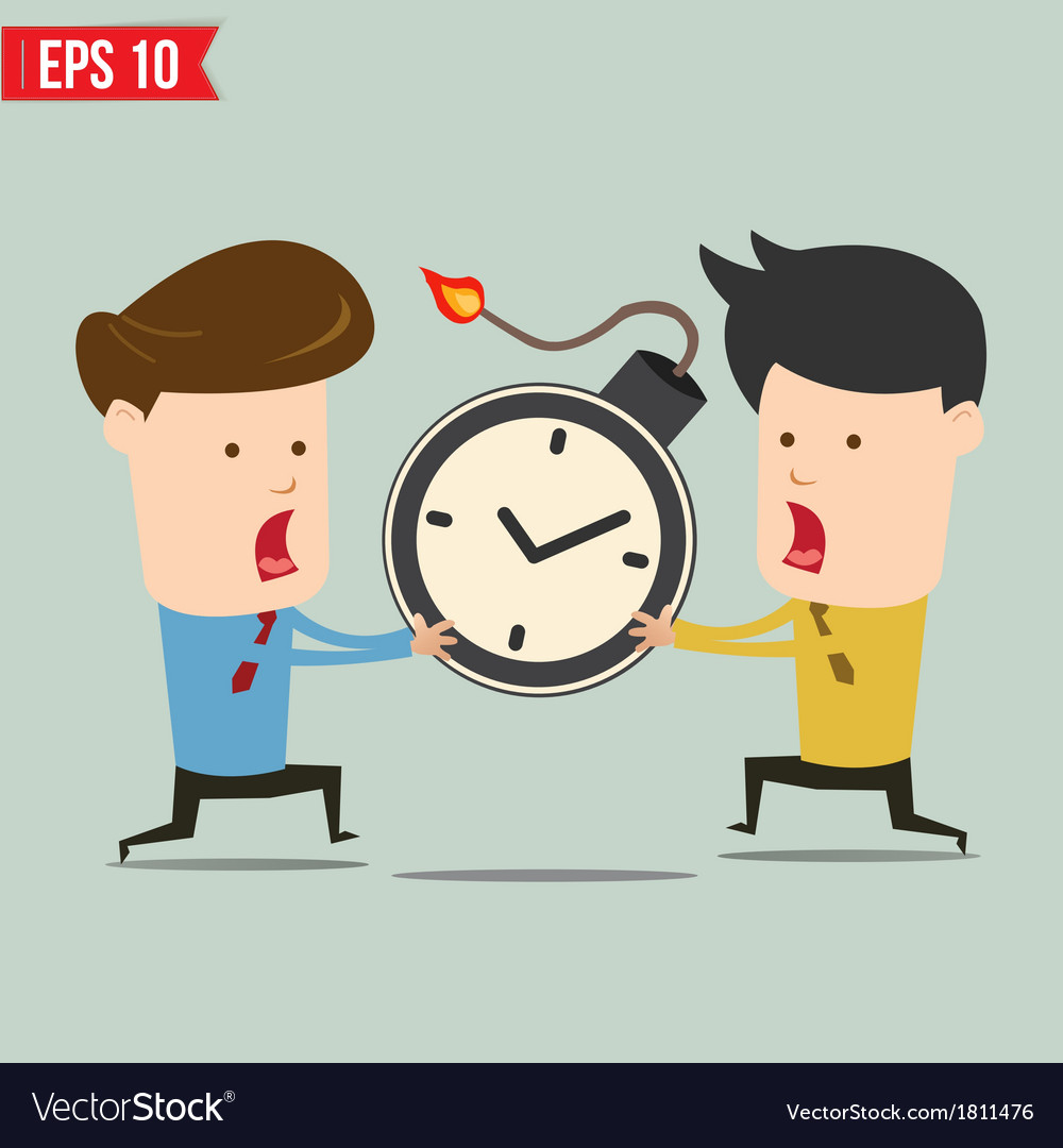 Businessman and time bomb vector | Price: 1 Credit (USD $1)