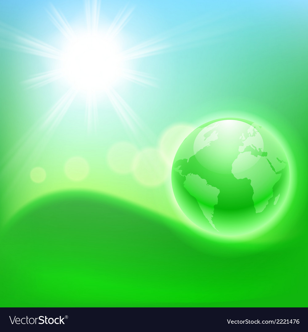Concept ecological background with the globe vector | Price: 1 Credit (USD $1)