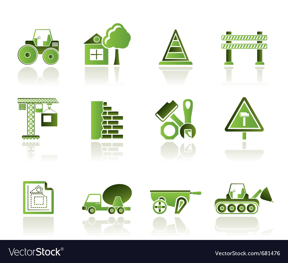 Construction and building icons vector | Price: 1 Credit (USD $1)