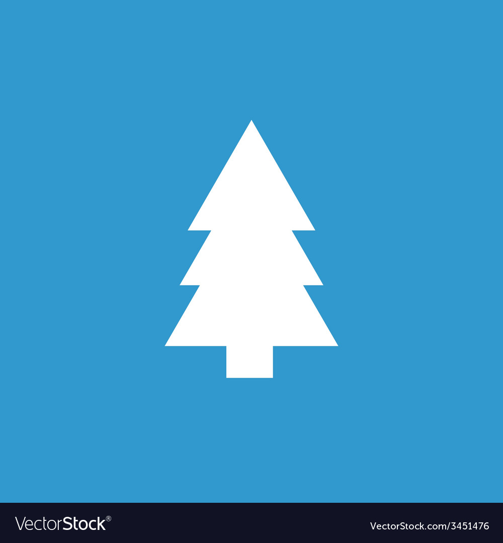 Fir-tree icon white on the blue background vector | Price: 1 Credit (USD $1)