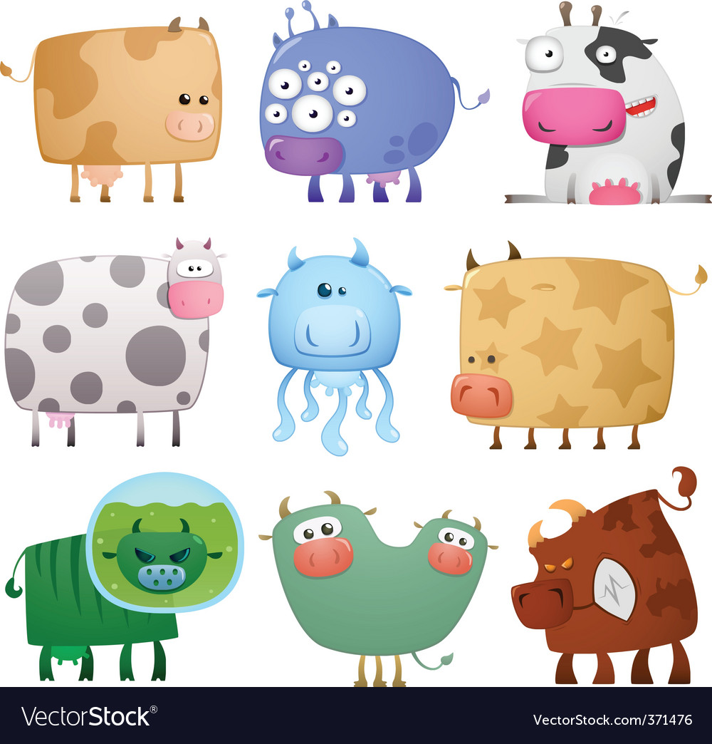 Funny cows vector | Price: 1 Credit (USD $1)