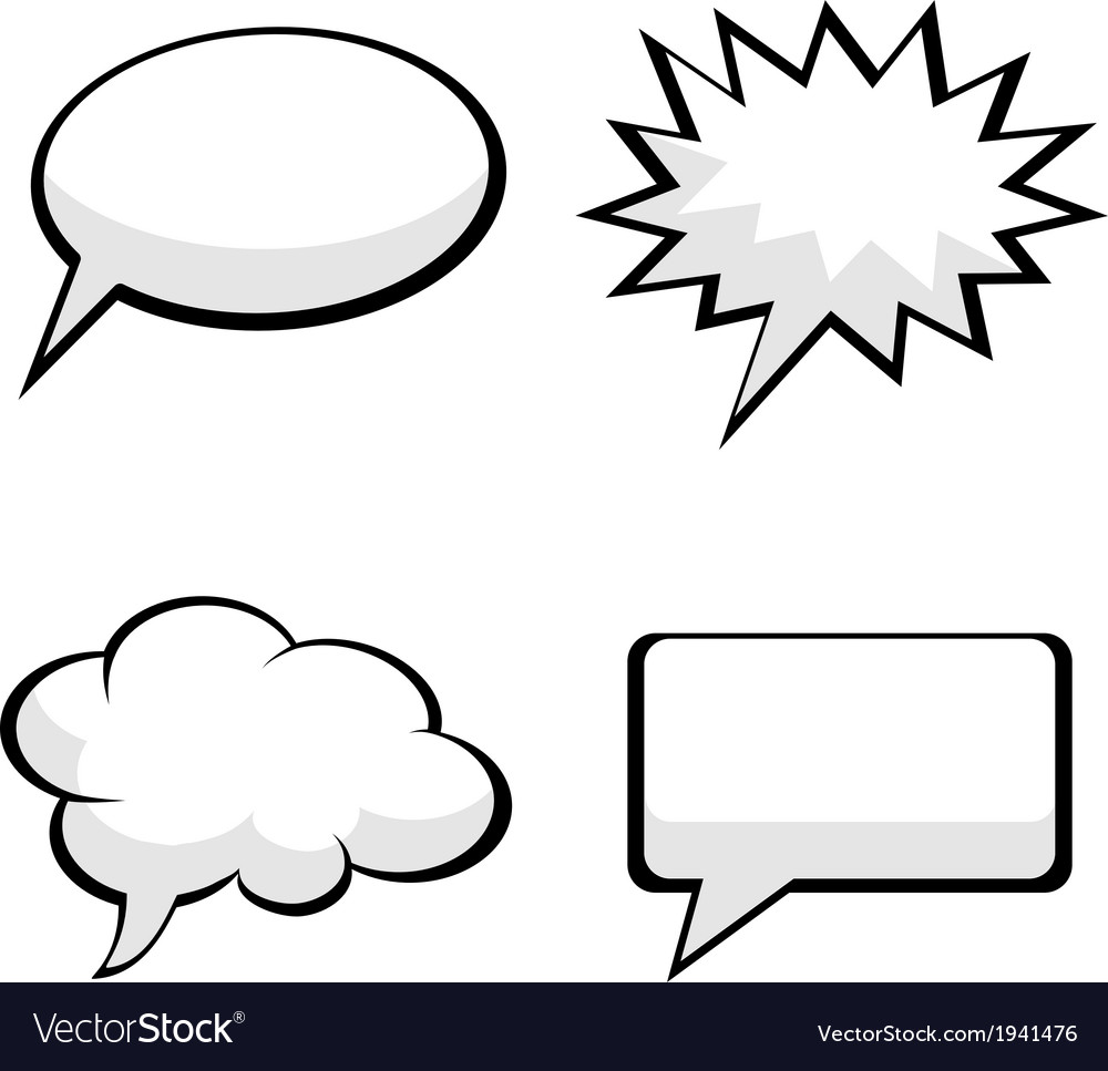 Pop art comic speech bubbles vector | Price: 1 Credit (USD $1)