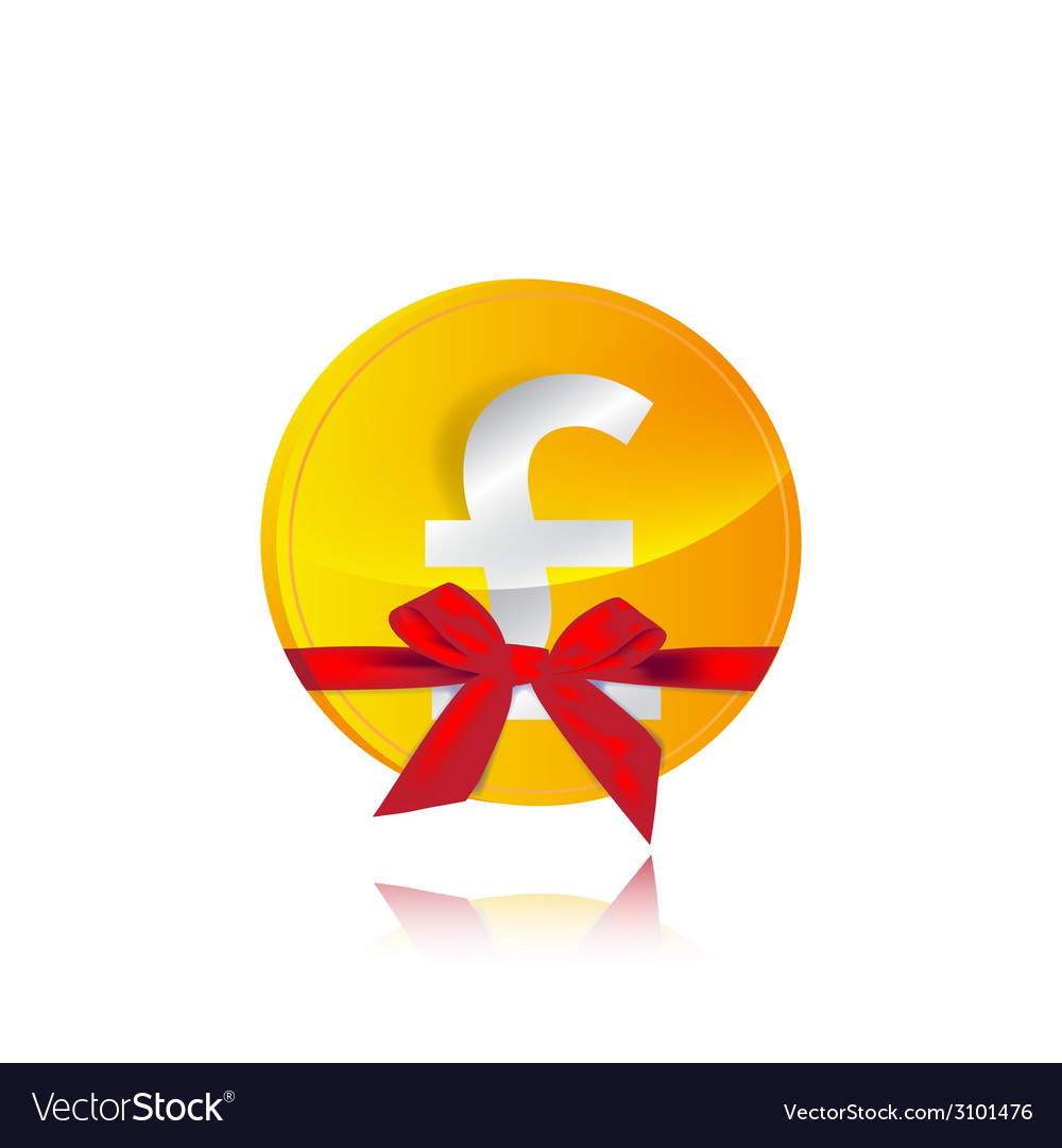 Pound coin gift vector | Price: 1 Credit (USD $1)