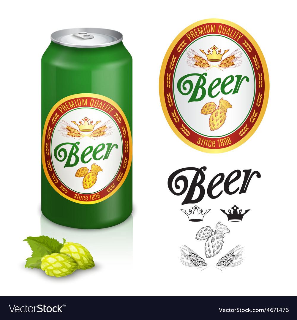 Premium beer label design vector | Price: 1 Credit (USD $1)